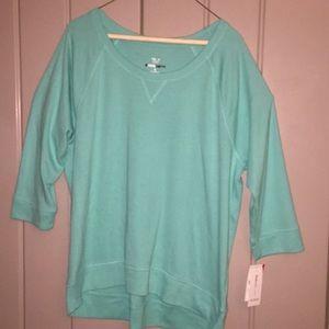 NWT Style & Co light Turquoise Sweatshirt